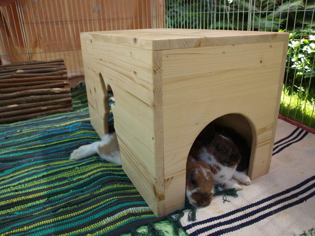 Домик для кроликов своими руками 20