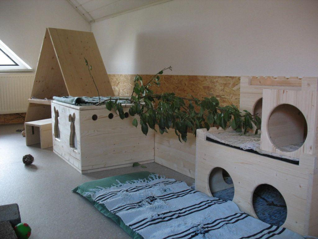 Как сделать домик из коробки для кроликов своими руками 78